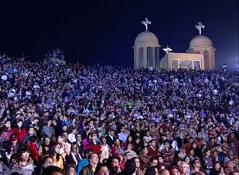EGYPT Thousands Gather In Cairo To Pray Church In
