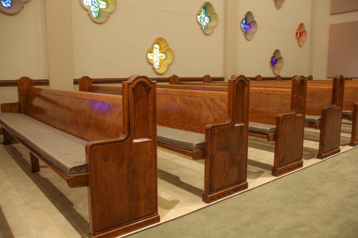 Pew Cushions  Pads Cushioning for Church Pews  Church