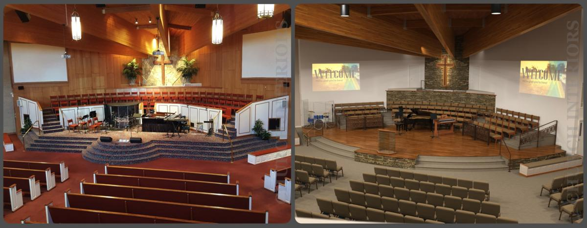 Before  After Comparison Images of Projects by Church