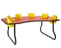 Toddler Tables - 4 6 or 8 seat feeding activity tables