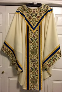 White Principal Chasuble 12-8-15