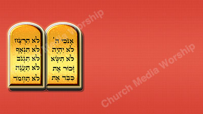 10 Commandments V5 Red Christian Worship Background. High quality worship images for use to spread the Gospel and enhance the worship experience.