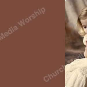 A Little Girl Praying Rose Christian Worship Background. High quality worship images for use to spread the Gospel and enhance the worship experience.