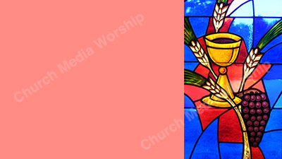 Bread and wine stained glass Red Christian Worship Background. High quality worship images for use to spread the Gospel and enhance the worship experience.