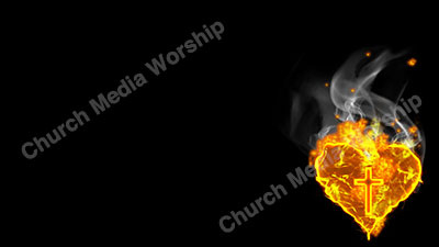Burning Heart For Christ Christian Worship Background. High quality worship images for use to spread the Gospel and enhance the worship experience.