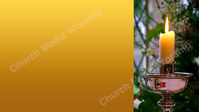 Candleabra Background Image Yellow Christian Worship Background. High quality worship images for use to spread the Gospel and enhance the worship.