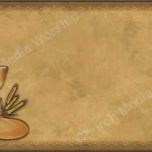 Chalice and Bread Christian Worship Background. High quality worship images for use to spread the Gospel and enhance the worship experience.
