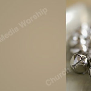 Christmas bells tan Christian Worship Background. High quality worship images for use to spread the Gospel and enhance the worship experience.