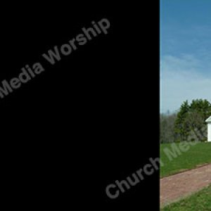 Church on a hill Black Background Image HD Christian Worship Background. High quality worship images for use to spread the Gospel and enhance the worship.