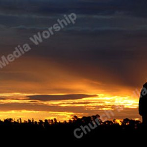 Father and Son in Worship Christian Worship Background. High quality worship images for use to spread the Gospel and enhance the worship experience.