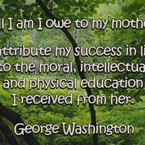 George Washington Mothers Quote Christian Animated Still A professional animated intro that's stops on a still image without continuous movements.