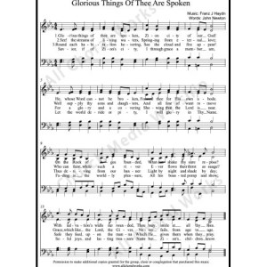 Glorious things of thee are spoken Sheet Music (SATB) Make unlimited copies of sheet music and the practice music.