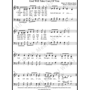 God will take care of You Sheet Music (SATB) Make unlimited copies of sheet music and the practice music.