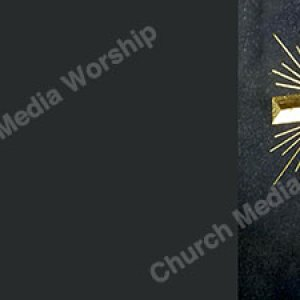 Gold Cross in Stone Grey Christian Worship Background. High quality worship images for use to spread the Gospel and enhance the worship experience.