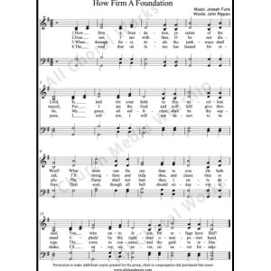 How firm a foundation Sheet Music (SATB) Make unlimited copies of sheet music and the practice music.