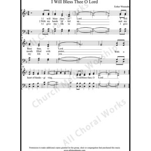 I Will Bless Thee O Lord Sheet Music (SATB) Make unlimited copies of sheet music and the practice music.