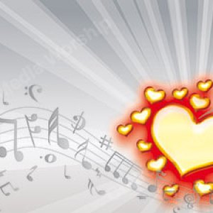 I Love Music Red glow Christian Worship Background. High quality worship images for use to spread the Gospel and enhance the worship experience.
