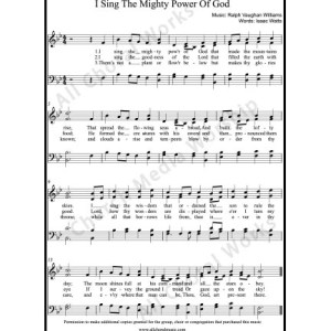 I sing the mighty power of God Sheet Music (SATB) Make unlimited copies of sheet music and the practice music.
