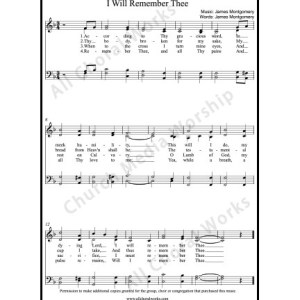 I Will Remember Thee Sheet Music (SATB) Make unlimited copies of sheet music and the practice music.
