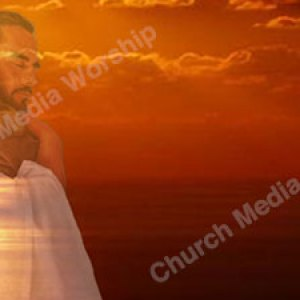 Jesus Hugging a Child Sunset Christian Worship Background. High quality worship images for use to spread the Gospel and enhance the worship experience.