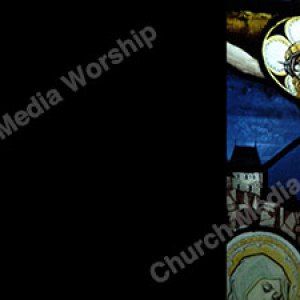 Jesus on Cross Stained Glass Black Christian Worship Background. High quality worship images for use to spread the Gospel and enhance the worship