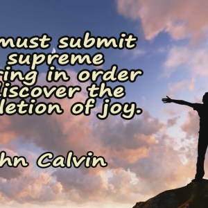 John Calvin Quote 2 Christian Animated Still A professional animated intro that's stops on a still image without continuous movements distraction