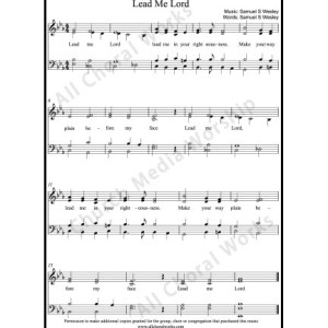 Lead me Lord Sheet Music (SATB) Make unlimited copies of sheet music and the practice music.