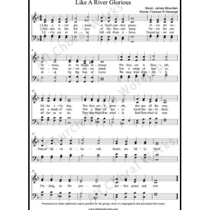 Like a river glorious Sheet Music (SATB) Make unlimited copies of sheet music and the practice music.