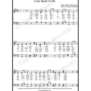 Lord speak to me Sheet Music (SATB) Make unlimited copies of sheet music and the practice music.