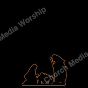 Manger Black Silhouette with glow Christian Worship Background. High quality worship images for use to spread the Gospel and enhance the worship experience.