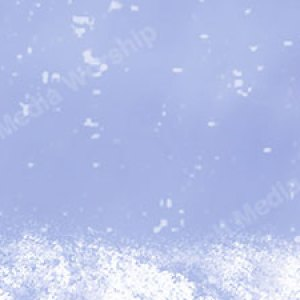 Mary Holding Child Snowfall Blue Christian Worship Background. High quality worship images for use to spread the Gospel and enhance the worship experience.