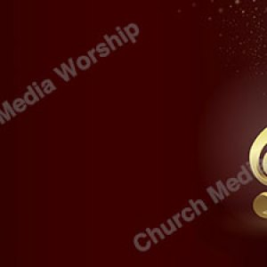 Musical golden notes Christian Worship Background. High quality worship images for use to spread the Gospel and enhance the worship experience.