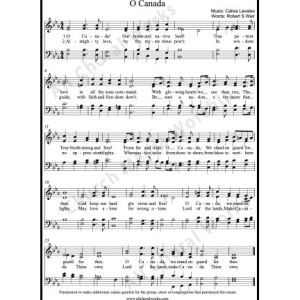 O Canada Sheet Music (SATB) Make unlimited copies of sheet music and the practice music.