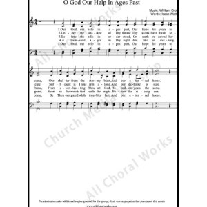 O God our help in ages past Sheet Music (SATB) Make unlimited copies of sheet music and the practice music.