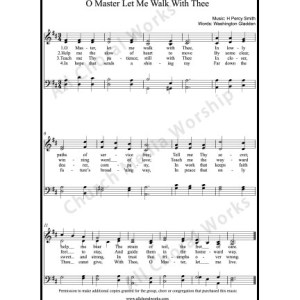 O master let me walk with thee Sheet Music (SATB) Make unlimited copies of sheet music and the practice music.