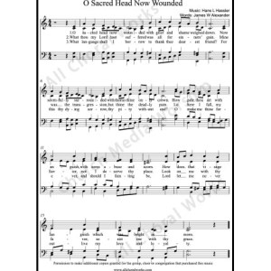 O sacred head now wounded Sheet Music (SATB) Make unlimited copies of sheet music and the practice music.
