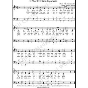 O word of God incarnate Sheet Music (SATB) Make unlimited copies of sheet music and the practice music.