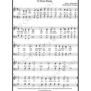 O zion haste Sheet Music (SATB) Make unlimited copies of sheet music and the practice music.