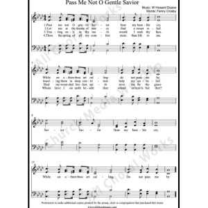 Pass Me Not O Gentle Savior Sheet Music (SATB) Make unlimited copies of sheet music and the practice music.