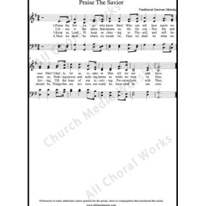 Praise the savior Sheet Music (SATB) Make unlimited copies of sheet music and the practice music.