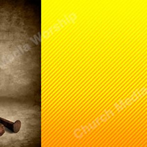 Spikes On The Cross Yellow Christian Worship Background. High quality worship images for use to spread the Gospel and enhance the worship experience.