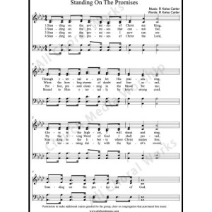 Standing on the Promises Sheet Music (SATB) Make unlimited copies of sheet music and the practice music.