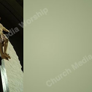 Statue of Christ Green Christian Worship Background. High quality worship images for use to spread the Gospel and enhance the worship experience.