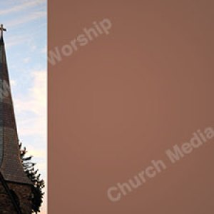 Stone Church steeple Earthtone Christian Worship Background. High quality worship images for use to spread the Gospel and enhance the worship experience.
