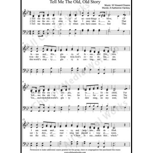 Tell me the old old story Sheet Music (SATB) Make unlimited copies of sheet music and the practice music.