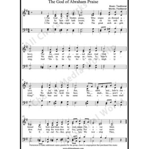 The God of Abraham praise Sheet Music (SATB) Make unlimited copies of sheet music and the practice music.
