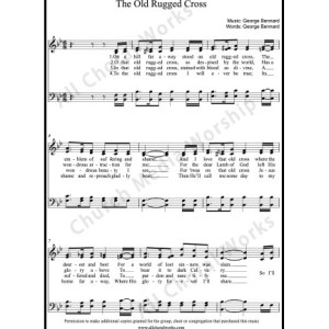 The Old Rugged Cross Sheet Music (SATB) Make unlimited copies of sheet music and the practice music.