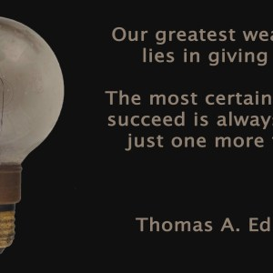 Thomas Edison Quote Christian Animated Still A professional animated intro that's stops on a still image without continuous movements distraction