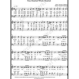 True Hearted Whole Hearted Sheet Music (SATB) Make unlimited copies of sheet music and the practice music.