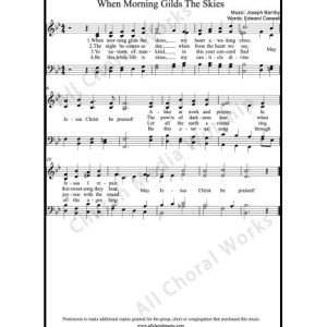 When morning gilds the skies Sheet Music (SATB) Make unlimited copies of sheet music and the practice music.